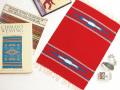 オルテガ 84PM-182 手織りチマヨ・プレイスマット(ランチョンマット) スカーレットレッド