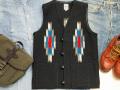 【限定生産カラー】オルテガ 手織りチマヨベスト 83SQ-3688 スクエアフロント・タイプ サイズ36 ブラック