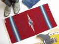 Ortega's オルテガ 841530-136 手織りチマヨブランケット 38x76cm カーディナルレッド