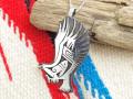ホピ 23-0372 ベラ・タワホングヴァ作 「フライング・イーグル」ペンダント