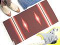 【限定色】 オルテガ 841530-142 手織りチマヨ・ブランケット 38x76cm ミディアムブラウン