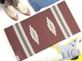 【限定色】 オルテガ 841530-143 手織りチマヨ・ブランケット 38x76cm ミディアムブラウン