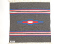 オルテガ 842020-072 手織りチマヨブランケット 50x50cm チャコールグレー