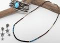 サントドミンゴ 34-0337 ドレイン・カラバザ作 マイクロHeishi(ヒシ=ビーズ)ネックレス 全長460mm