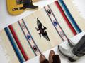 Ganscraft デッドストック・チマヨ・ブランケット GB2040-034 50x100cm ホワイト サンダーバード・デザイン