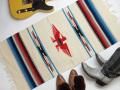 Ganscraft デッドストック・チマヨ・ブランケット GB2040-035 50x100cm ホワイト サンダーバード・デザイン