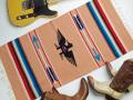 Ganscraft デッドストック・チマヨ・ブランケット GB2040-041 50x100cm ピーチ(パステルピンク) サンダーバード・デザイン
