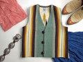 【限定生産サイズ】 Ortega's オルテガ 手織りチマヨ・ベスト 83JR-3238 ボーイズタイプ サイズ32 ヘザーグリーン ※動画あり