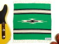 【限定生産カラー】 オルテガ 841515-105 手織りチマヨブランケット 38x38cm ケリーグリーン