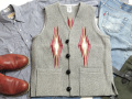 オルテガ 手織りチマヨベスト 83SQ-38123 スクエアフロント・タイプ サイズ38 ヘザーグレー