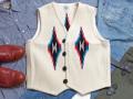 オルテガ 手織りチマヨベスト 83RG-40304 サイズ40 ホワイト