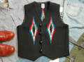 【限定生産カラー】オルテガ 手織りチマヨベスト 83RG-40306 サイズ40 ブラック