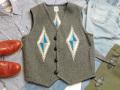 オルテガ 手織りチマヨベスト 83RG-42116 サイズ42 ダークグレー