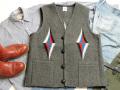 オルテガ 手織りチマヨベスト 83SQ-4415 スクエアフロント・タイプ サイズ44 ダークグレー