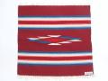 オルテガ 842020-081 手織りチマヨブランケット 50x50cm カーディナルレッド