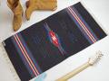 【限定色】 オルテガ 842040-107 手織りチマヨ・ブランケット 50x100cm ブラック
