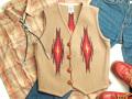 【限定ファブリック】オルテガ 手織りチマヨベスト 83DXRG-3627 セリーナ・セラーノ作 サイズ36 ベージュ