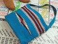 オルテガ 手織りチマヨ・ショルダー・トートバッグ 87ST-085 ターコイズブルー