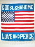 当店オリジナル 小林正茂謹製 MK-WORK-105 GOD BLESS HOME / LOVE AND PEACE 星条旗デザイン 手織りチマヨブランケット