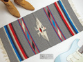 Ganscraft デッドストック・チマヨ・ブランケット GB2040-005 50x100cm ミディアムオックスフォード・ヘザー サンダーバード・デザイン