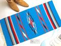 Ganscraft デッドストック・チマヨ・ブランケット GB2040-020 50x100cm ターコイズブルー
