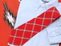 BURRO WEAVERS(ビューロ・ウィーヴァーズ)  VWT-048 Wilson FLAUTLESS ダブルネーム 1950年代後期 ビンテージ手織りウールネクタイ