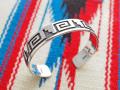 ホピ 22-0249 グリセルダ・スフキー(Griselda Saufkie)作 ウォーターシンボル オーバーレイ・ブレスレット