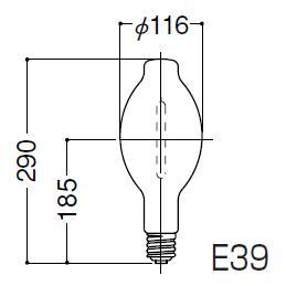 岩崎電気 FECサンルクスエース NH360LS 透明形360W