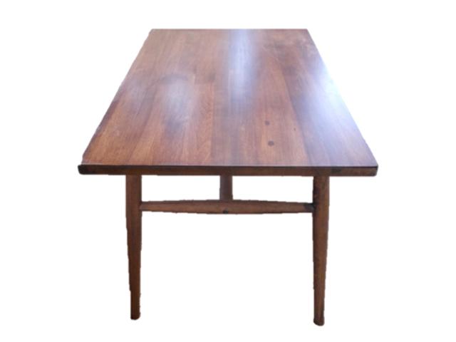 クルミダイニングテーブル1 (月形)