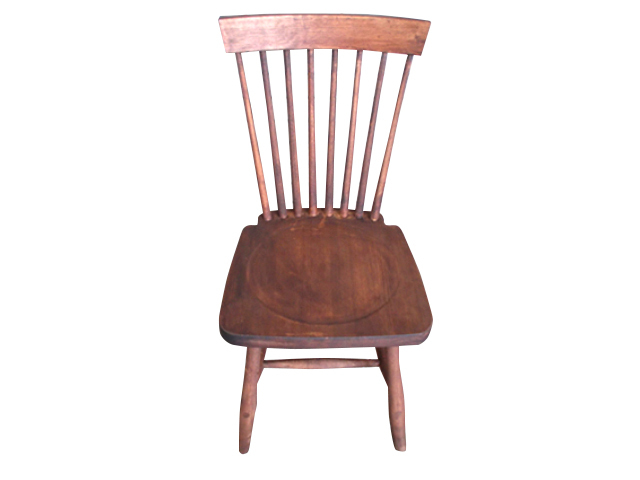 クルミダイニング椅子1 (月形)