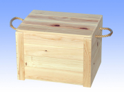 フタ付き木製箱 (松山)