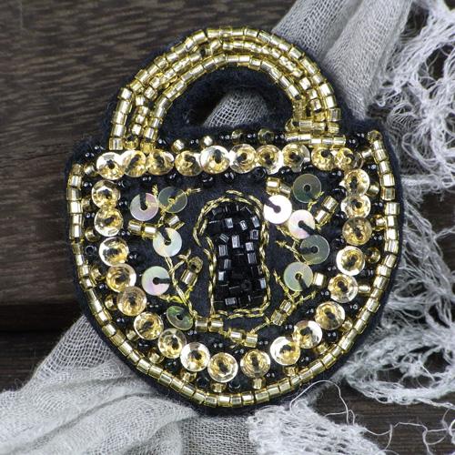 Lolocott(ロロコット) Lock ブローチ