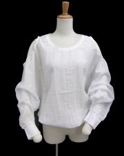 【EUROPEN CULTURE(ヨーロピアンカルチャー)】オープンショルダーシャツ ホワイト