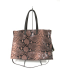 AND-2161Leather パイソントートBAG