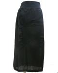 【EUROPEN CULTURE(ヨーロピアンカルチャー)】コットンマキシスカート ブラック