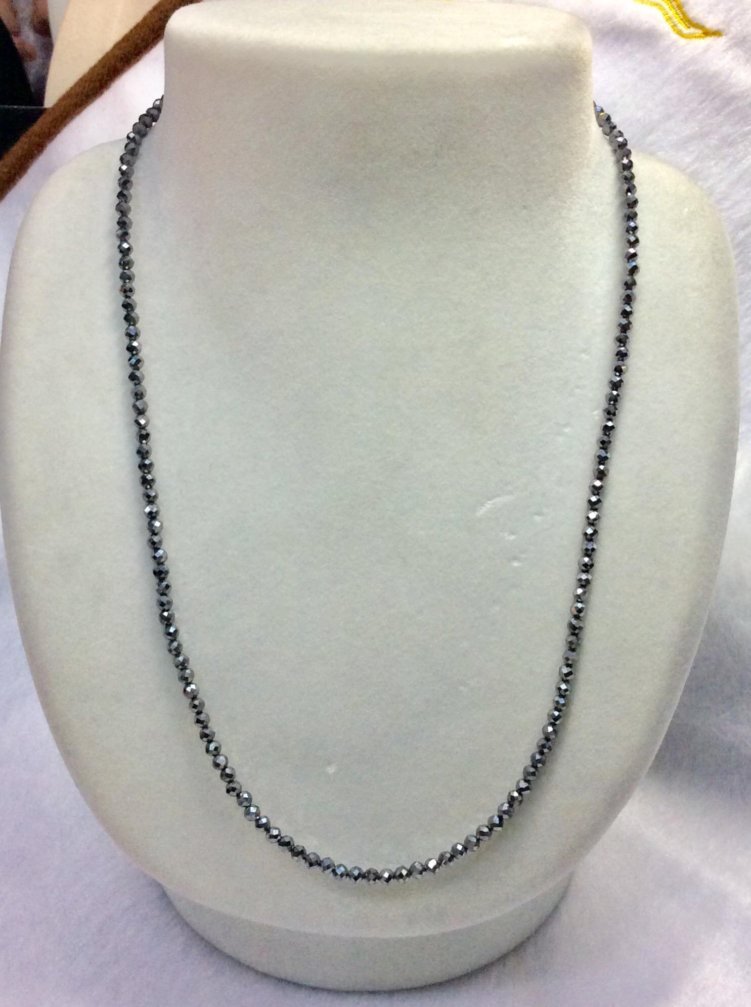 テラヘルツ鉱石ネックレス 3mm 45cm