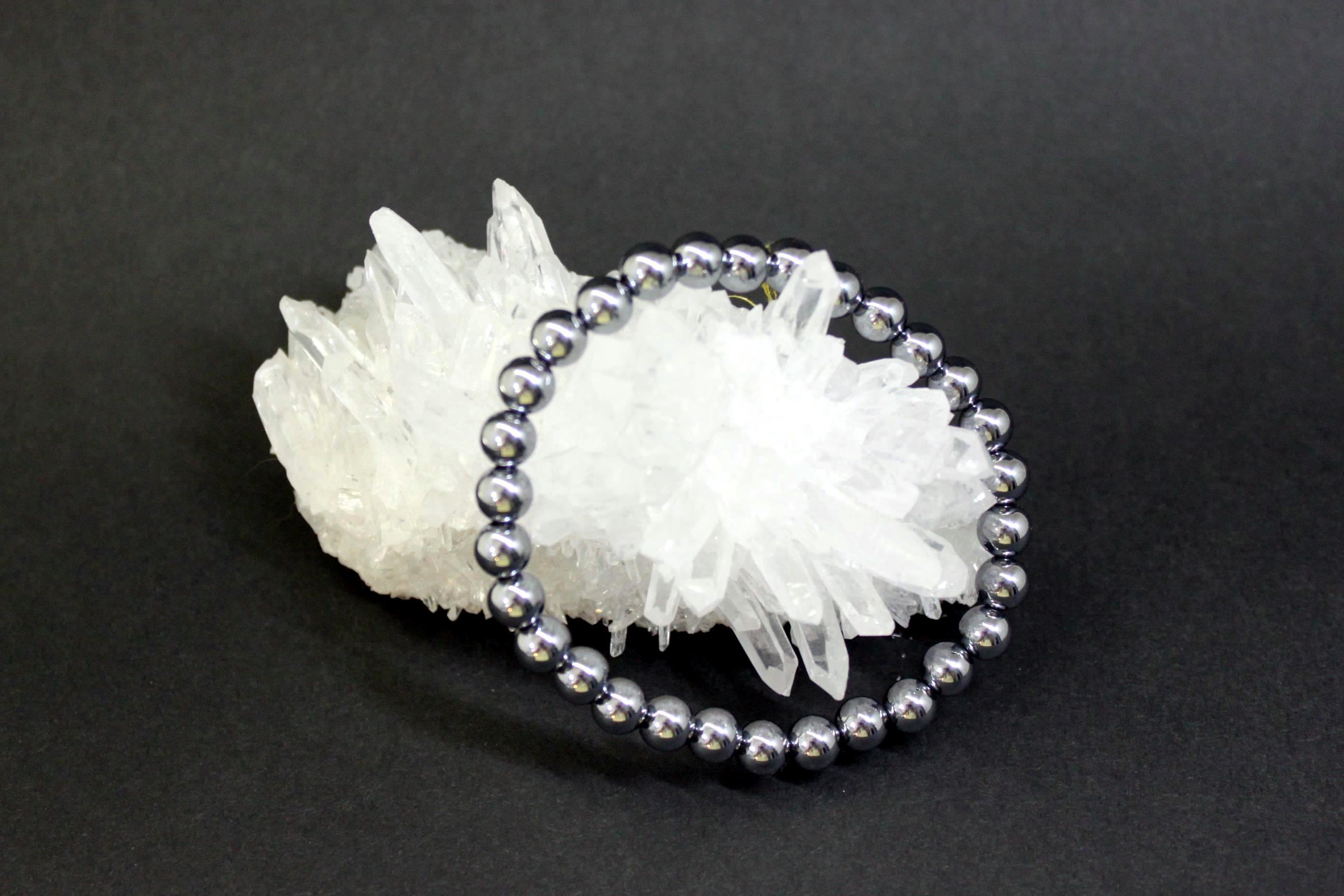 テラヘルツ鉱石 丸玉ブレスレット6ミリ
