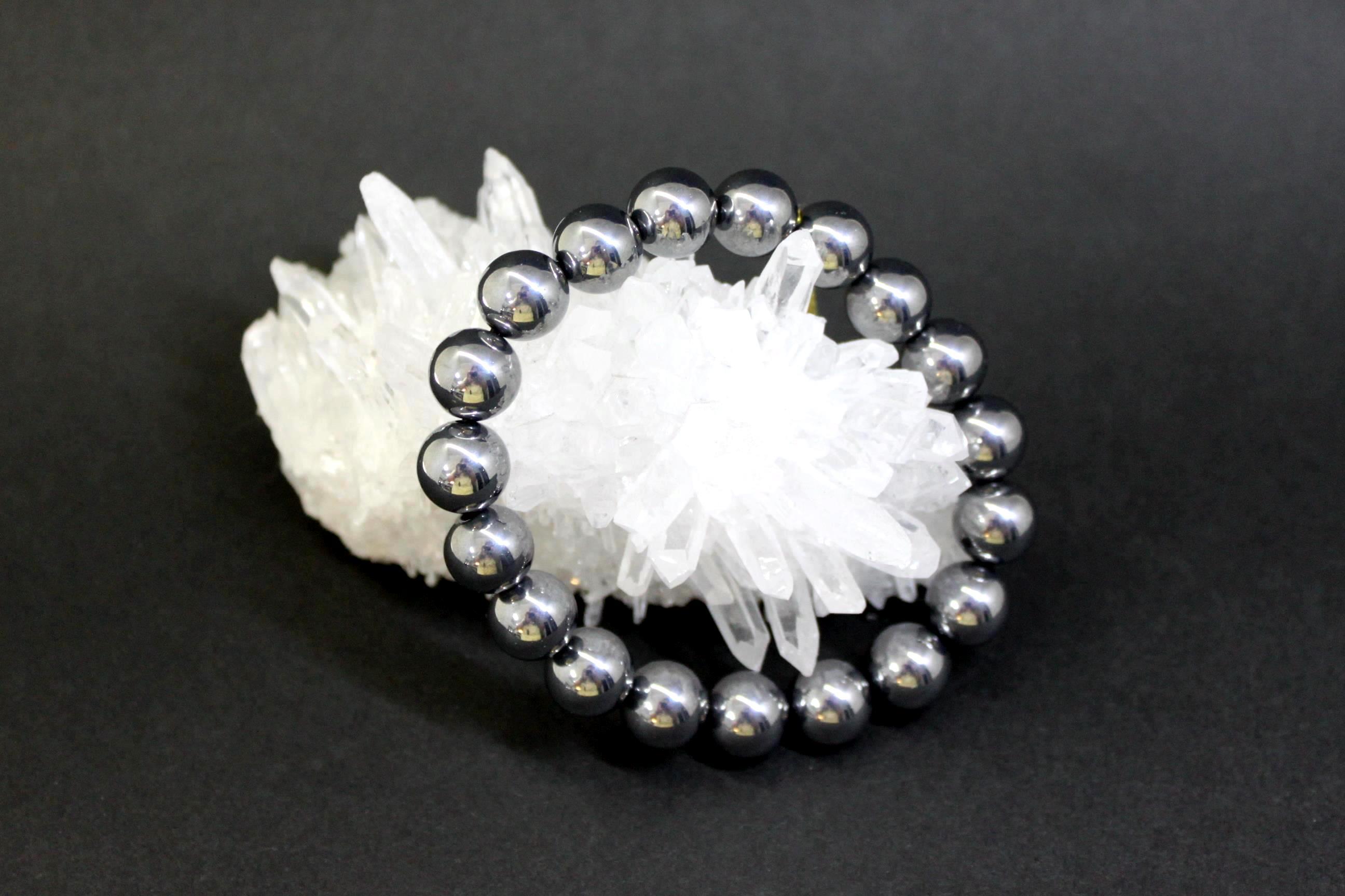 テラヘルツ鉱石 丸玉ブレスレット8ミリ