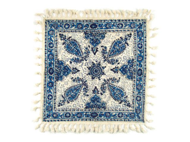 サラサ 約43×43cm ブルー sa043043001