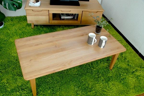 センターテーブル テーブル 天然木 リビング ナチュラル 幅105cm