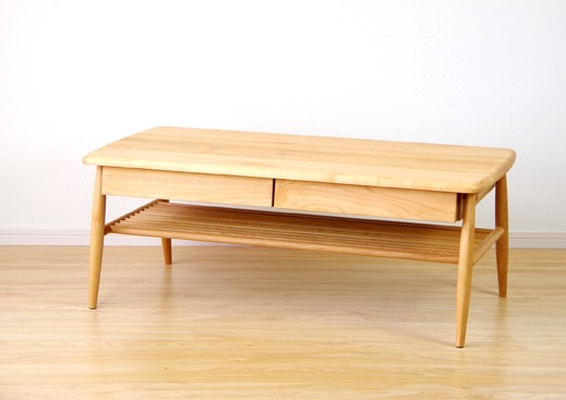 センターテーブル 北欧テーブル 幅100cm アルダー無垢材シリーズ家具