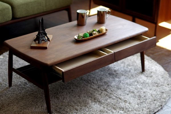 センターテーブル テーブル 北欧家具 おしゃれ アルダー無垢材