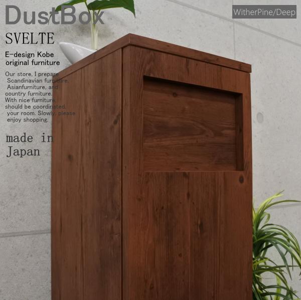 ゴミ箱 おしゃれ スリムゴミ箱 45Lゴミ箱 分別ゴミ箱 キッチンゴミ箱 ダストボックス ウィザーパイン/ディープ