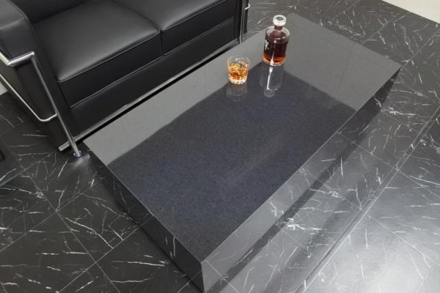 ローテーブル テーブル オフィス 高級 店舗 リビング 大理石 黒 Grand-R