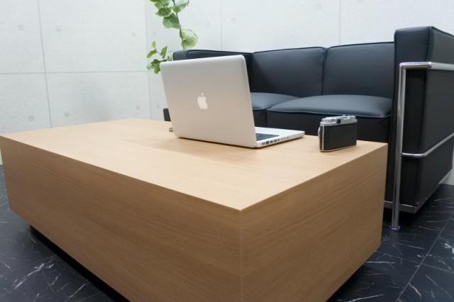 ローテーブル テーブル オフィス 高級 店舗 リビング ウォールナットナチュラルGrand-R