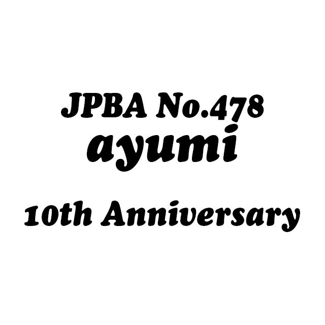 10th Ayumiオリジナルグラスデザイン