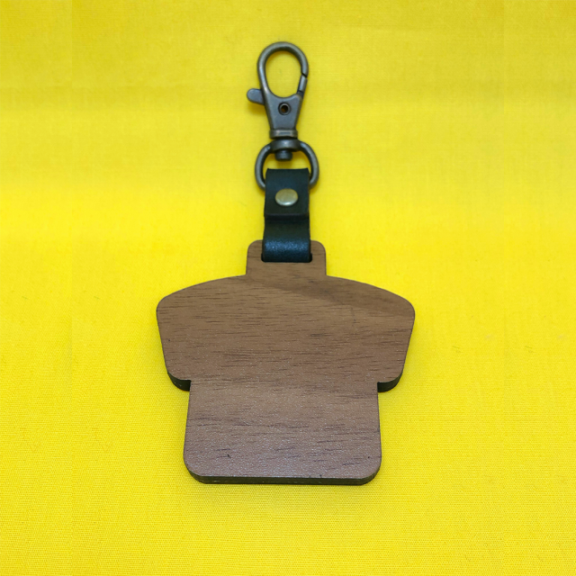 木製キーホルダー裏