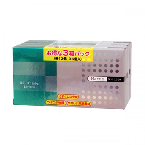 【コンドーム】マレ1000 12P×3箱(36個入)