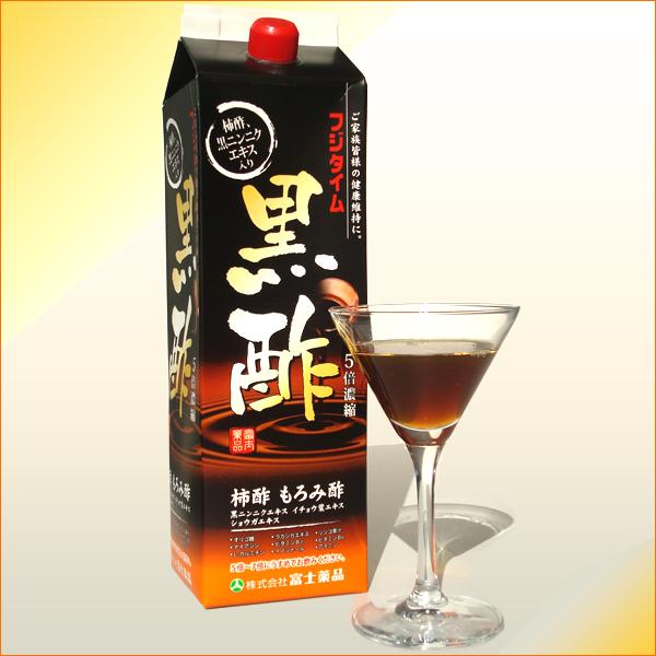 送料無料 飲む酢 【黒酢】フジタイム黒酢1800ml(富士薬品)