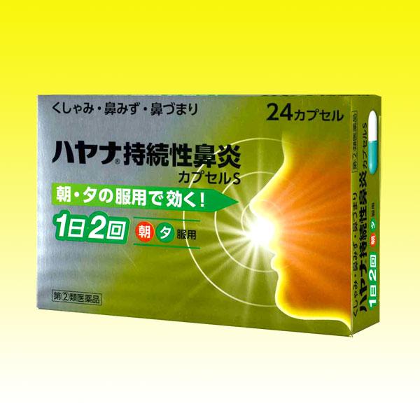 【指定第2類医薬品】 ハヤナ持続性鼻炎カプセルS(24カプセル)